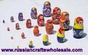 Babushka doll russian nesting dolls