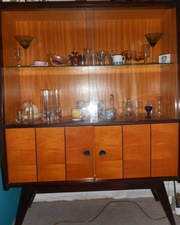 1950's  glass cabinet